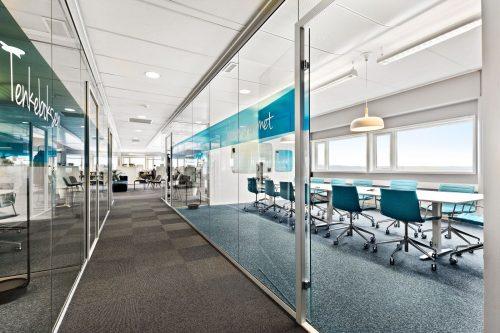 Korridor og møterom
